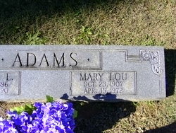 Mary Lou <i>Wells</i> Adams