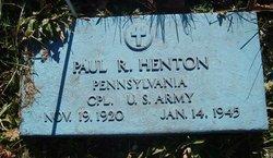 Corp Paul R. Henton
