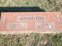 Rebecca J <i>McClelland</i> Addington
