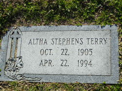 Altha <i>Stephens</i> Terry