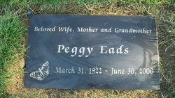Grace Margaret Peggy <i>Floyd</i> Eads
