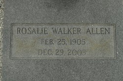 Rosalie <i>Walker</i> Allen