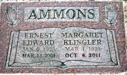 Margaret Virginia <i>Klingler</i> Ammons