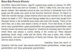 Arena E. Rena <i>Poncia</i> Silveria