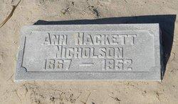 Barbara Ann <i>Reid</i> Nicholson Hackett