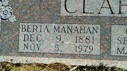 Berta <i>Manahan</i> Clark