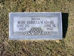 Mary Rebecca W. Adams
