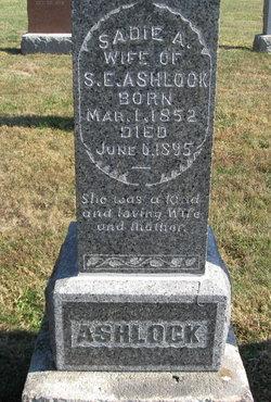 Sarah A. Sadie <i>Selby</i> Ashlock