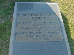 Forrest Isabelle <i>Anderson</i> Hemphill