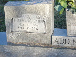 Thelma <i>Earp</i> Addington