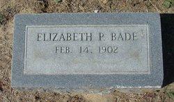 Elizabeth Lizzie <i>Peyton</i> Bade