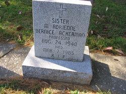 Sr Mary Adrienne Bernice Ackerman