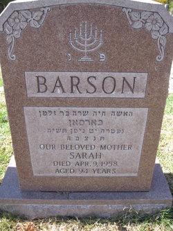 Sarah Barson