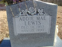 Adeline Mary Addie Mae <i>Cox</i> Lewis