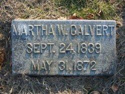Martha A <i>Wigginton</i> Calvert