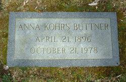 Anna <i>Kohrs</i> Buttner