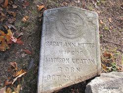 Sarah Ann <i>Hutts</i> Keaton