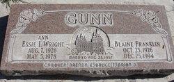 Essie Ann Isabel <i>Wright</i> Gunn