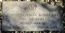 Corp Curtis Gordon Anderson