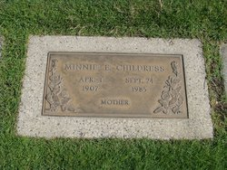 Minnie Elizabeth <i>Ray</i> Childress