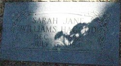 Sarah Jane <i>Williams</i> Hagood