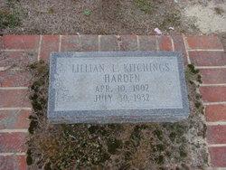 Lillian L <i>Kitchings</i> Harden