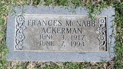 Frances <i>McNabb</i> Ackerman