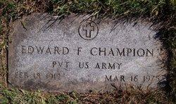 Edward F Champion