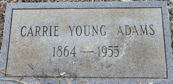 Carrie <i>Young</i> Adams