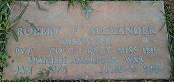 Robert F Alexander