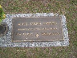 Alice <i>Farris</i> Lawson