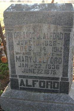 Mary J <i>Holloman</i> Alford