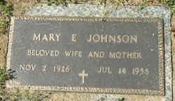 Mary E. <i>Barton</i> Johnson