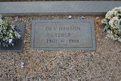 Ola <i>Hanson</i> Elder