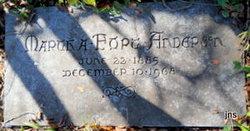 Martha Fannin <i>Fort</i> Anderson