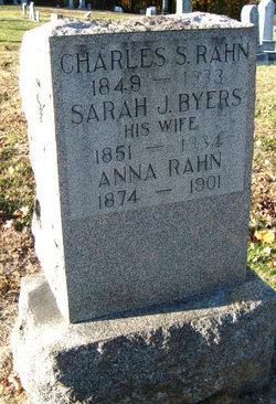 Sarah J <i>Byers</i> Rahn