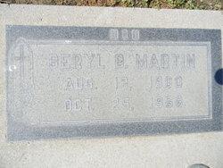 Beryl B Martin