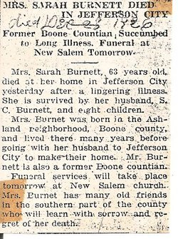 Sarah Elizabeth <i>Wyatt</i> Burnett