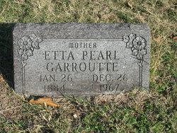 Etta Pearl <i>Welch</i> Garroutte