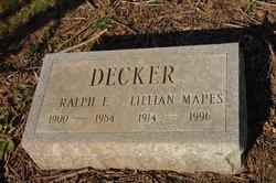 Lillian <i>Mapes</i> Decker