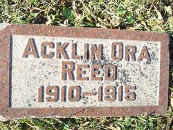 Acklin Ora Reed
