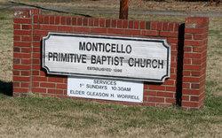 Monticello Primitive Baptist Church Cemetery
