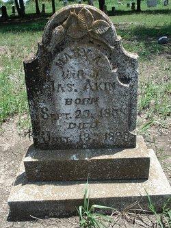 Mary A. <i>Phillips</i> Akins