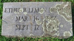 Ethel B <i>Lemen</i> Downs