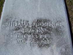 Gladys Thelma <i>Durrence</i> Bacon
