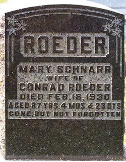 Mary <i>Schnarr</i> Roeder