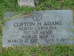 Clifton H Adams