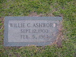 Willie C Ashworth