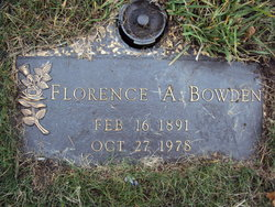 Florence Agnes <i>Campbell</i> Bowden