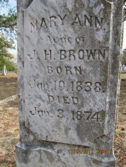 Mary Ann <i>Davis</i> Brown